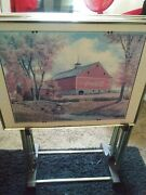 Vintage Set Of Coca Cola Tv Trays Folding With Stand Barn Oudoor Style