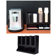 Coffee Condiment Organizer Plastic Cup Dispenser Container For Home Office