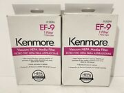 2 Kenmore Vacuum Hepa Media Filter Ef-9 53296 For Canister And Upright New Oem