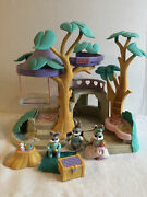 Vintage Fisher Price Hideaway Hollow Bunny Home Near Complete 74733 Rabbit Tree