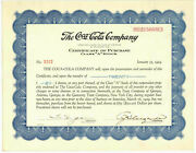 1929 The Coca-cola Company Class A Stock Certificate Of Purchase