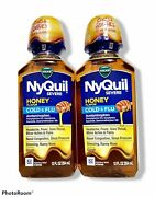 Vicks Nyquil Severe Honey Cough, Cold And Flu Medicine, Sinus Pressure 11/2021