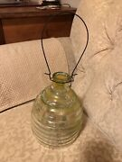 Antique / Vintage Bee Hive Design Fly, Wasp, Insect Catcher Trap Clear Glass