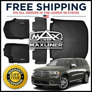 Maxliner 1st 2nd And Cargo Floor Mats Black For 2013-16 Grand Cherokee W/o Console