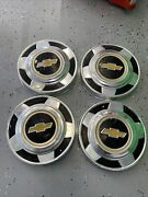1970and039s 1980and039s Chevy 1/2 Ton Truck Hub Caps Dog Dish Square Body C10 10.5 Inch