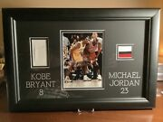 Kobe Bryant Michael Jordan Game Used Patches Framed With Coa