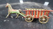 Meier German Penny Toy Tin Horse And Cart