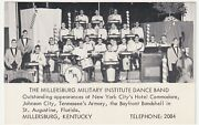 Kentucky Millersburg Military Institute Dance Band Real Photo Postcard Ca 1961