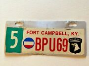 101st Army Airborne Ft. Campbell Kentucky Motorcycle License Plate