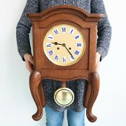 Mauthe Antique German Mantel Clock Rarity Solid Wood Gong Chime Fully Restored