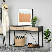 Console Sofa Table W/ 2 Drawers Entryway Table For Hallway Living Room Bedroom