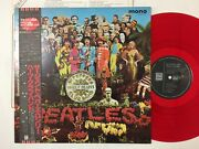 The Beatles Sgt.peppers 1982 Uk Cutting Japan Limited Mono Red Vinyl W/obi