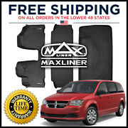 Maxliner 1st 2nd And Cargo Floor Mat Black For Caravan/town And Country W/bench Seat