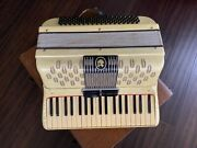 Vintage Paolo Soprani Piano Accordion Made In Italy W/case