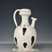 10.6 Antique Porcelain Tang Dynasty Xing Kiln White Speckle Chicken Head Teapot