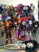 Monster High Doll Lot Cats Two Heads Skeleton Moped Clothes Shoes Belts Earrings