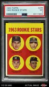 1963 Topps 299 Dave Morehead / T Red Sox / Tigers / Braves / Pirates Psa 7 - Nm