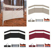 Portable Outdoor Camping Wind Shield Cooking Grills Gas Windscreen Campfire