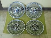 63 64 Ford Wire Spoke Spinner Hub Caps 14 Set 4 Wheel Covers Hubcaps 1963 1964