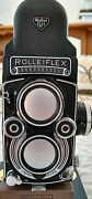 Vintage Rolleiflex 3.5f Model 3 Zeiss Planar 1960and039s - Lots Of Extras Xlnt