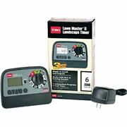 Lawn Master Ii 53806 Electrical Sprinkler Timer 6 Zone Wall Mount.