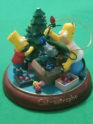 Bradford Exchange Editions Simpsons Light Up Christmas Ornament Cat-astrophy