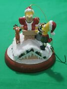Bradford Exchange Editions Simpsons Light Up Christmas Ornament Fat Chance