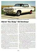 1963-1964 Max Wedge 426 Ramcharger Article - Must See - Hemi Engine