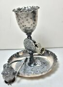Antique Derby Silver Co.silver Plated Cigar Cutter Ash Tray And Match Holder....