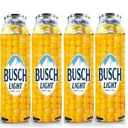 4 Rare - Busch Light Beer 'for The Farmers' Corn Cob Can Cooler - Koozie Coolie