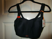 Panache Full Busted Underwire Black Sports Bra Size 36f New
