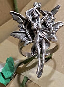Vintage Tall Sculpted Risquandeacute Dancer Lady Sexy Nymph Sterling Silver Ring Sz 9