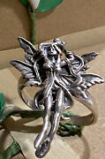 Vintage Tall Sculpted Risquandeacute Dancer Lady Sexy Nymph Sterling Silver Ring Sz 7.75