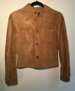 Woman's Genuine Suede Jacket, Button Up, Waist Length, Small