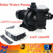 1200w Dc Solar Pump In-ground Swimming Pool Pump Clean Spa Brushless Motor 110v