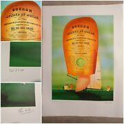 Litho. Course Around Of World Whitbread Race 1974 Royal Naval Sailing / The Pons
