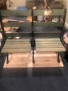 Vintage Antique Pittsburgh Forbes Field Pirate Steelers Benches Seats