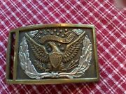 Civil War Union Officer Sword Belt Plate Buckle With Keeper Excellent Non Dug