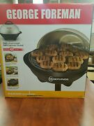 George Foreman Black Portable Nonstick Grill Indoor Outdoor Ggr50b Electric Bbq