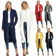Comfort Coat Womenand039s Long Long Sleeve Open Front Party Comfortable Stylish