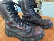 Vintage Gripfast Oxblood Steel Toe Boots Us Menand039s 6.5 Womenandrsquos 8 Made In England