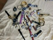 Huge Watches Lot Watch Vintage Now Repair Need Batteries Pocket Watch Some Rare