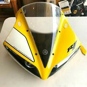 06 Yamaha Yzf R1 50th Anniversary Oem Front Cowl Nose Fairing Damaged
