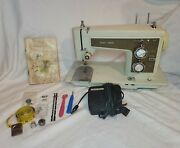 Vintage Sears Kenmore Portable Sewing Machine 158.14301 With Foot Pedal And Case