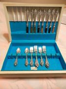 32 Pc Set Wallace 1941 Grand Baroque Sterling Flatware Abt 1260 G From 1970 S