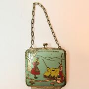 A Purse Antique Vintage Alice In Wonderland Small Metal Child Doll Coin Purse