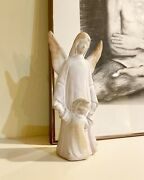 Vintage 1995 Mccarty Pottery Angel And Child Figurine Statue