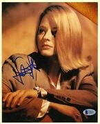 Jodie Foster Autographed Signed 8x10 Photo Authentic Beckett Bas Coa Aftal