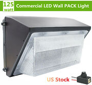 125w Led Wall Pack Light Dusk To Dawn Waterproof Outdoor Security Area Lighting