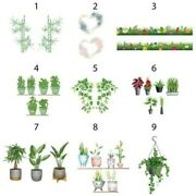 Wall Stickers Plants Bamboo Flowers Heart Lawn Grass Trailing Vases Seeds